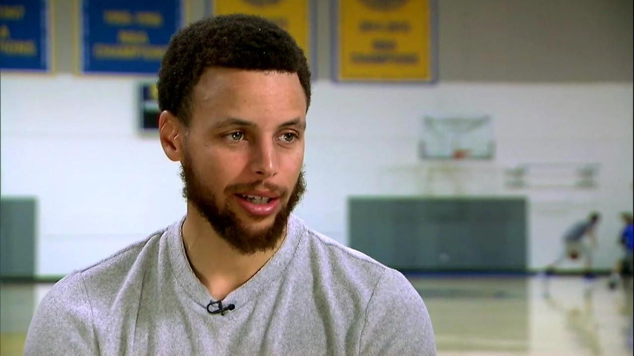 FILE - Golden State Warriors Guard Stephen Curry on Good Morning America.