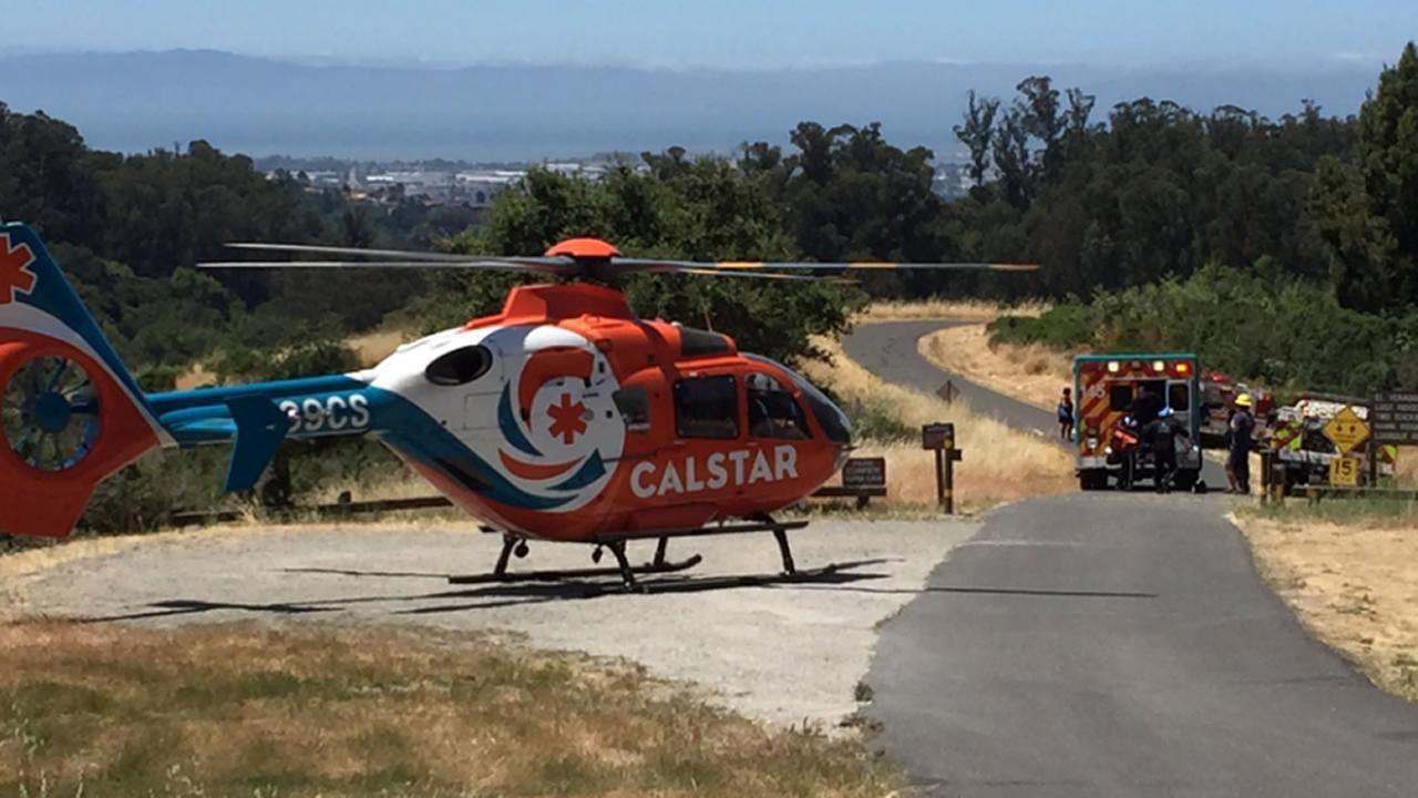 Oakland fire airlifts 11-year-old from Lake Chabot campground after head injury