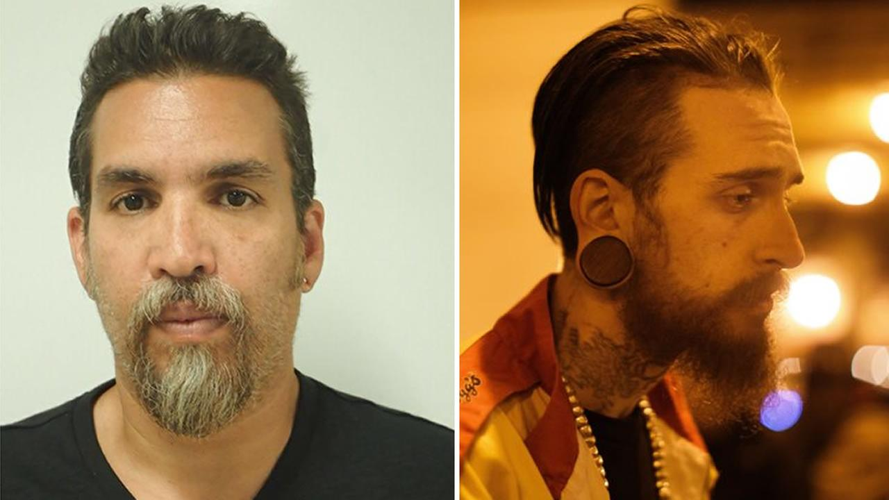 These are the two men charged criminally in the Ghost Ship fire that killed 36. Founder Derick Almena is pictured on the left and Max Harris is on the right.