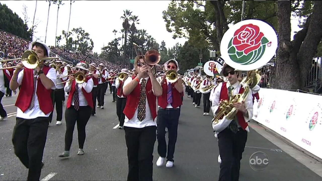 The Stanford Marching Band performs in this undated file photo.