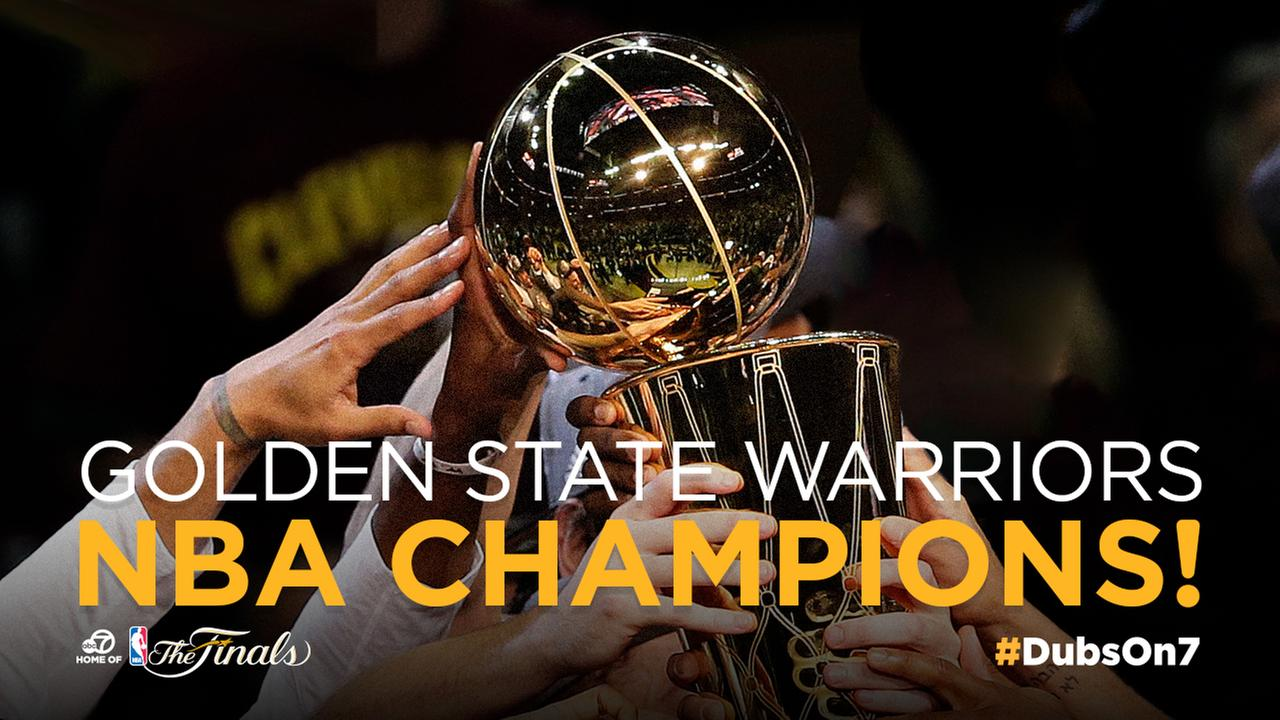 Golden State Warriors are NBA champs after beating Cavs in Game 5