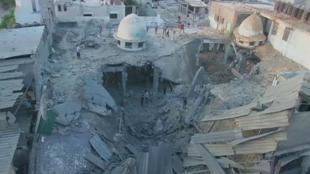 Home destroyed in Gaza