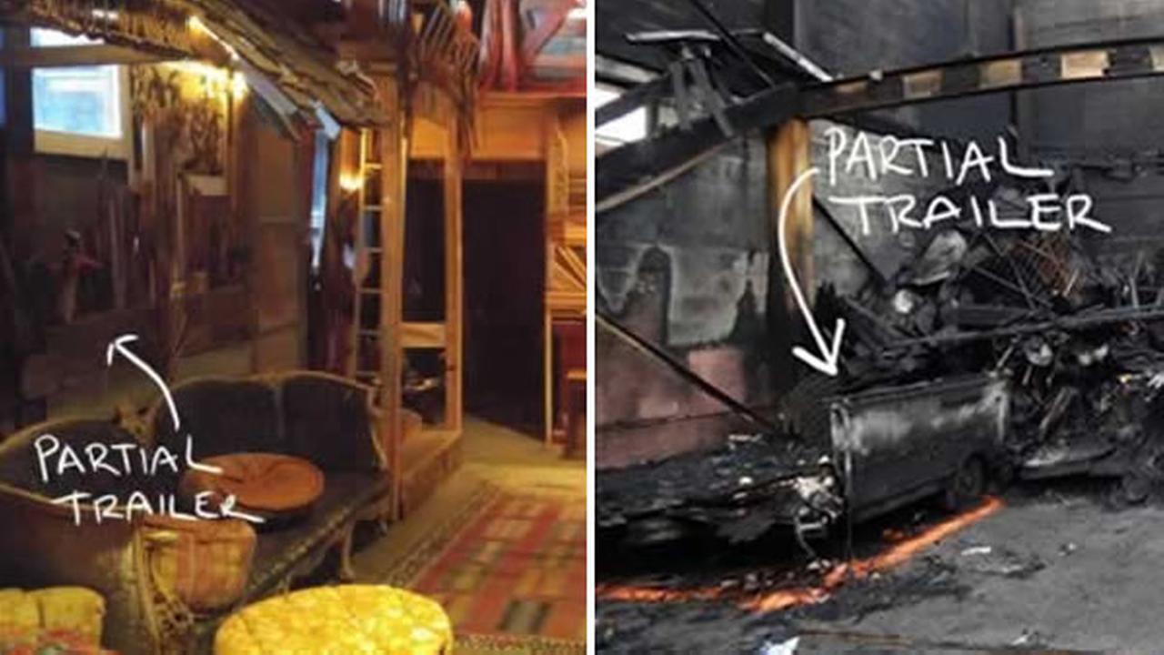 The Oakland Fire Department shared these before-and-after photos from the deadly Ghost Ship fire in Oakland, Calif. in their report released Monday, June 19, 2017.