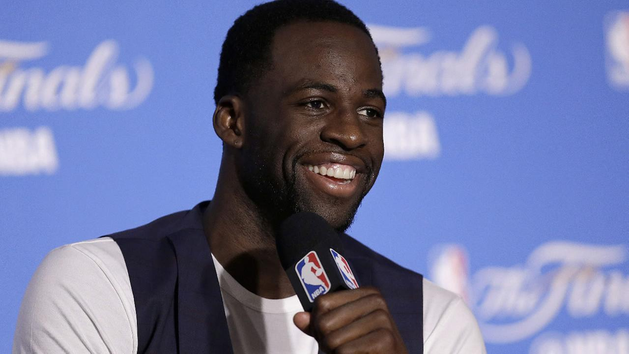 Warriors Draymond Green speaks at a news conference after Game 2 of basketballs NBA Finals against the Cleveland Cavaliers in Oakland, Calif., Sunday, June 4, 2017. (AP Photo)