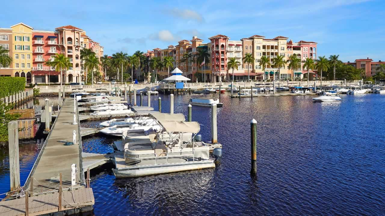 This undated file photo shows the marina in Naples, Florida.