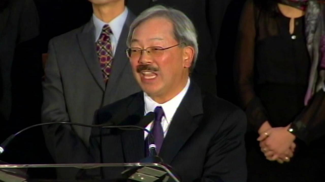 San Francisco Mayor Ed Lee making a public appearance.