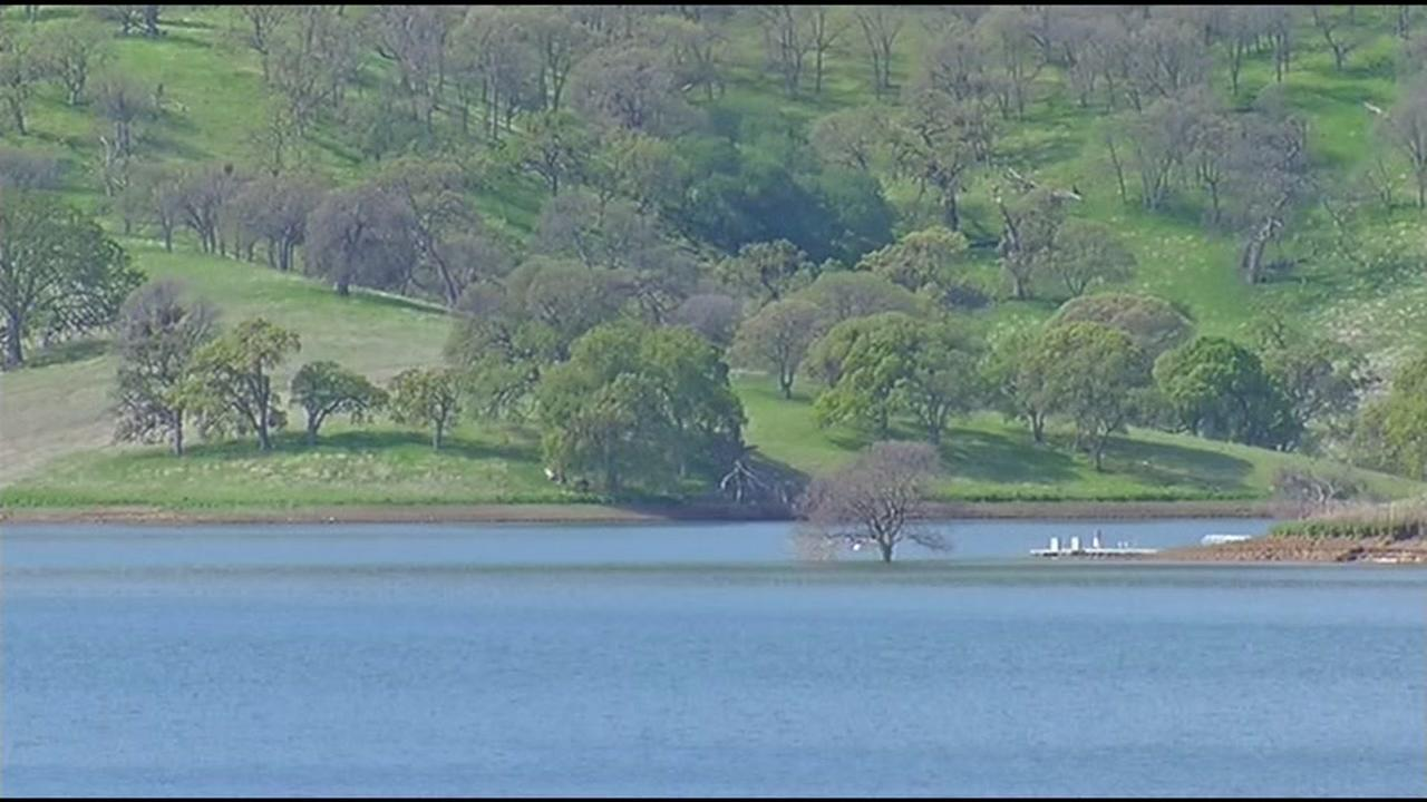 This is an undated image of the Los Vaqueros Reservoir near Livermore, Calif.