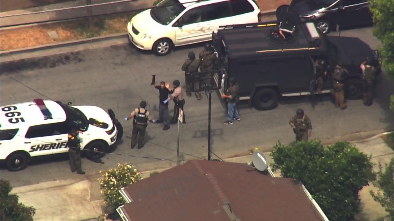 Man taken into custody after standoff in San Jose