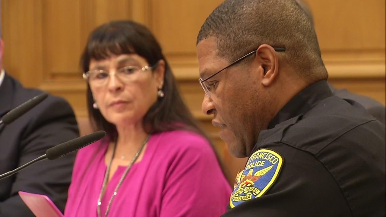 San Francisco Police Chief Bill Scott speaks at a police commission meeting on Wednesday, June 7, 2017.