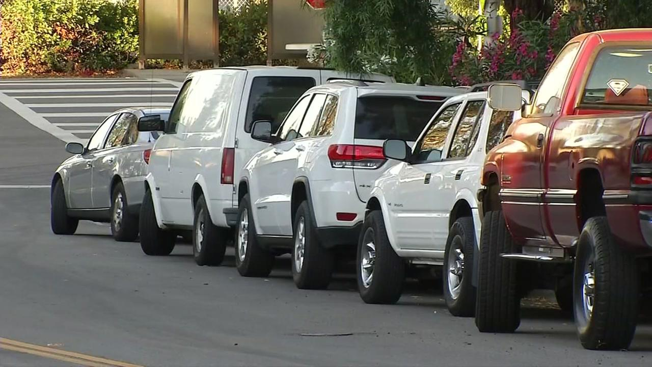 Cars appear parked in San Ramon, Calif. on Thursday, June 6, 2017.