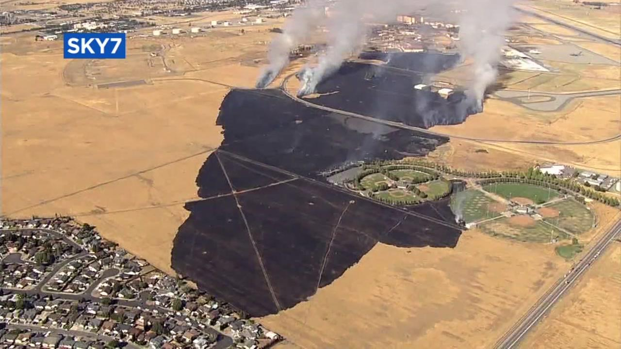 The Peterson Fire in Solano County, Calif. Thursday, July 6, 2017.