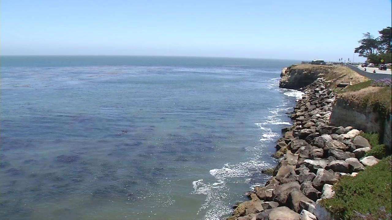 This is an undated image of a beach in Santa Cruz County.
