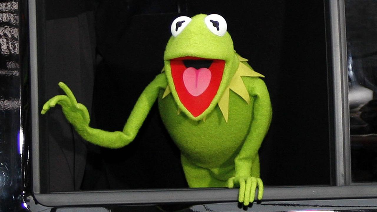 Kermit the Frog is seen at the world premiere of The Muppets held at El Capitan Theater in Los Angeles on Nov. 12, 2011.