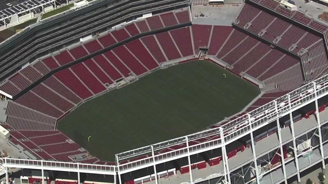 The 49ers new Levi Stadium which opens next month.