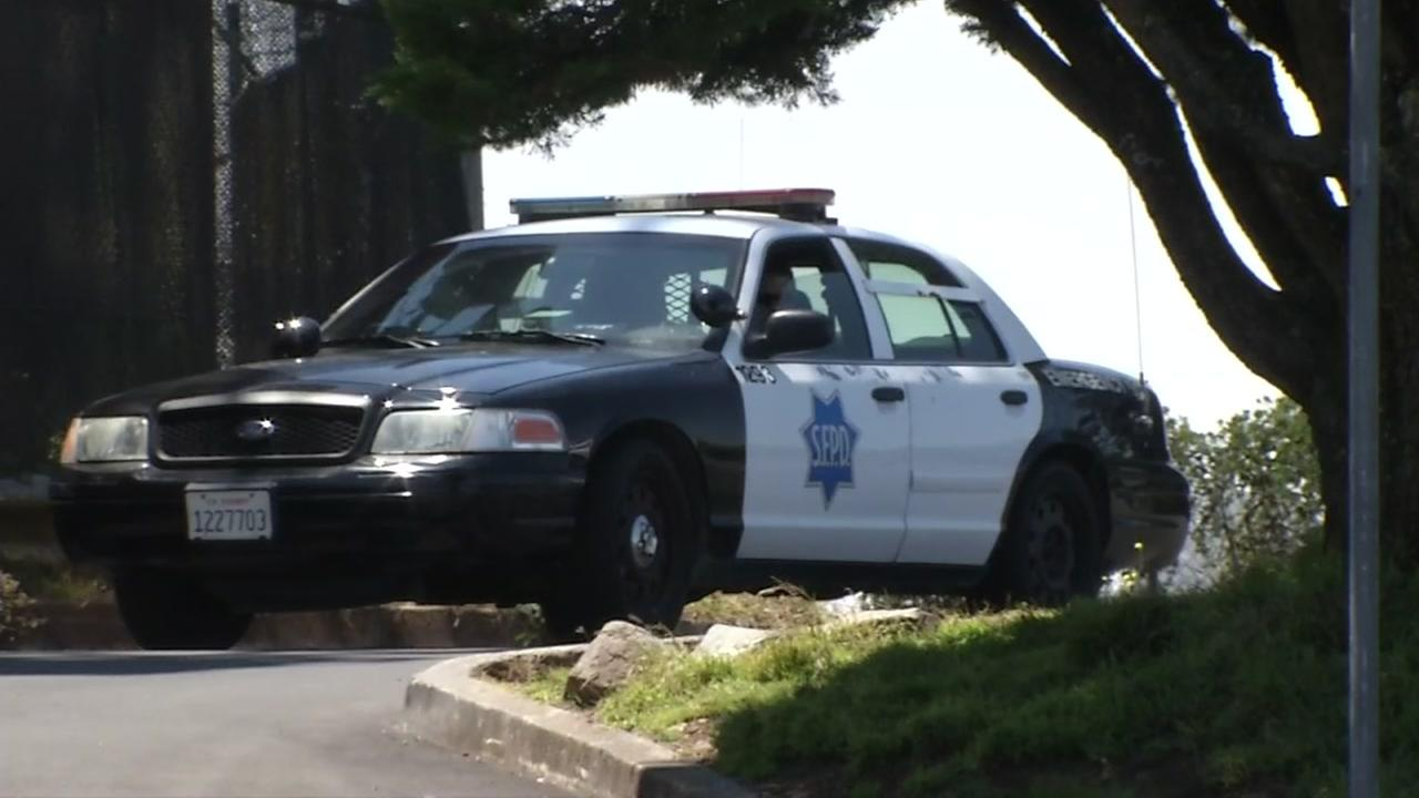 An SFPD vehicle is seen at Twin Peaks in San Francisco, Calif. on Monday, July 17, 2017.