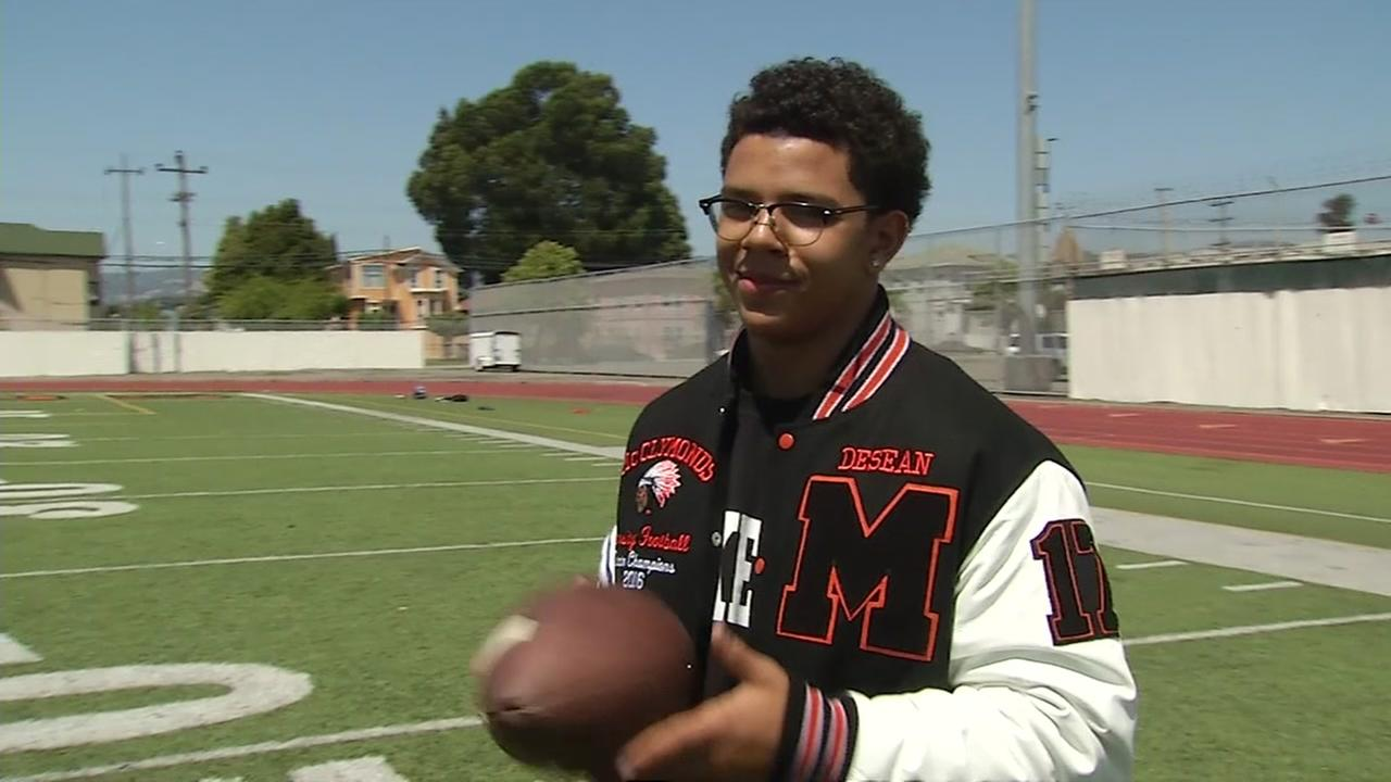 DeSean Neabeack-Brantley is seen at McClymonds High School in Oakland, Calif. in this undated image.