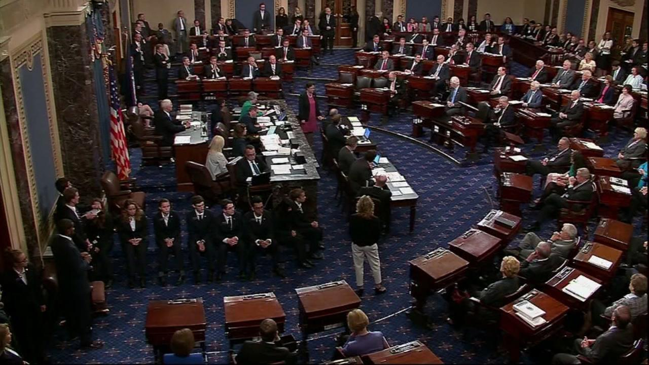 The United States Senate debates the proposed repealing and replacing of Obamacare on Tuesday, July 25, 2017.