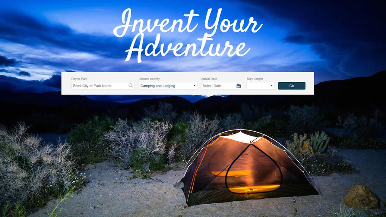 This image shows the California Department of Parks and Recreations new user-friendly website that launched on Tuesday, Aug. 1, 2017.