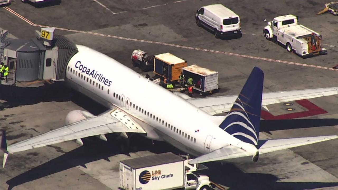 A Copa Airlines plane appears at San Francisco International Airport on Tuesday, Aug. 1, 2017.