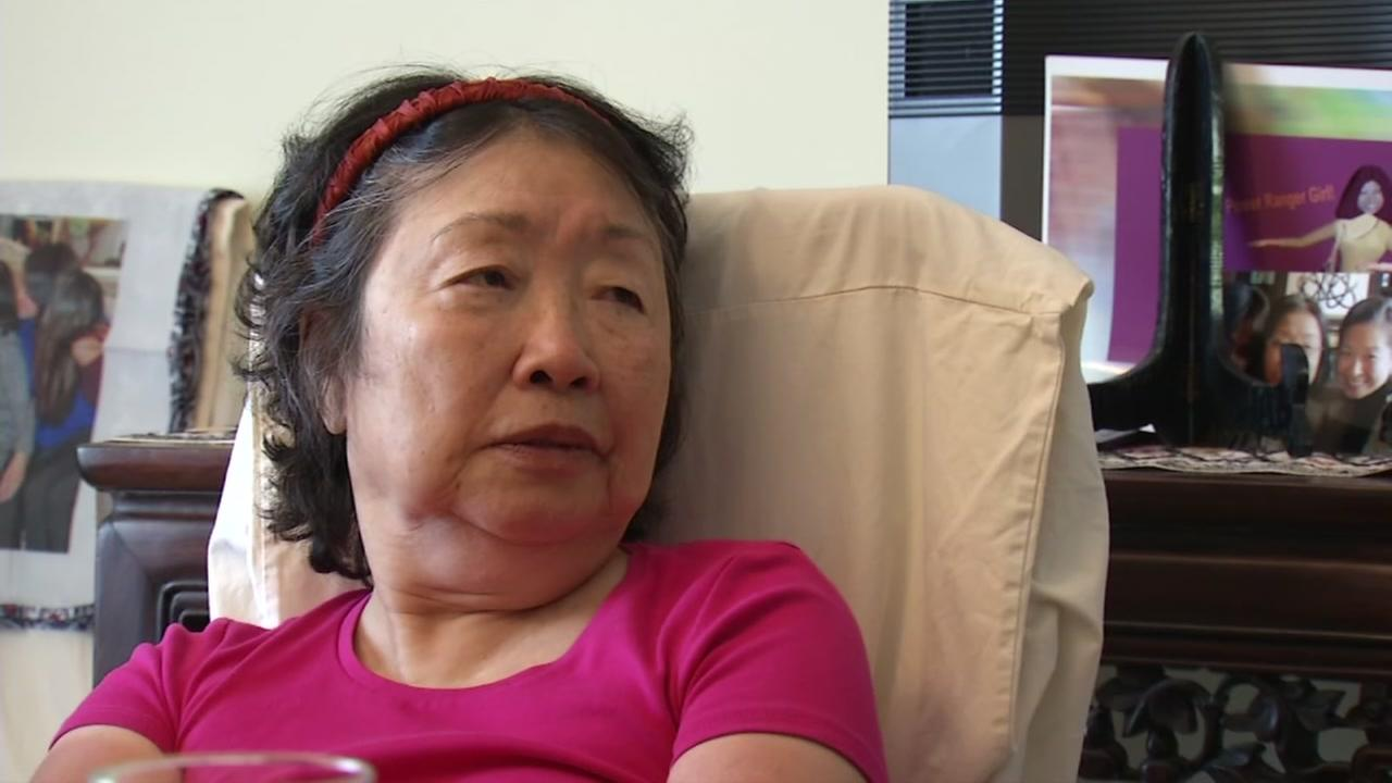 Josephine Huang is interviewed by ABC7 News on Wednesday, Aug. 8, 2017.