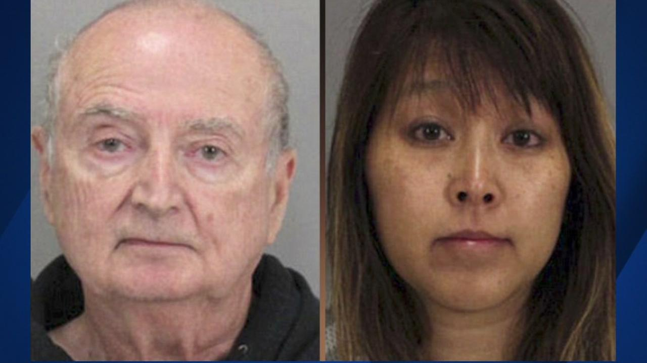A Los Gatos couple, Ralph and Carolyn Flynn, appear in these undated mugshots.