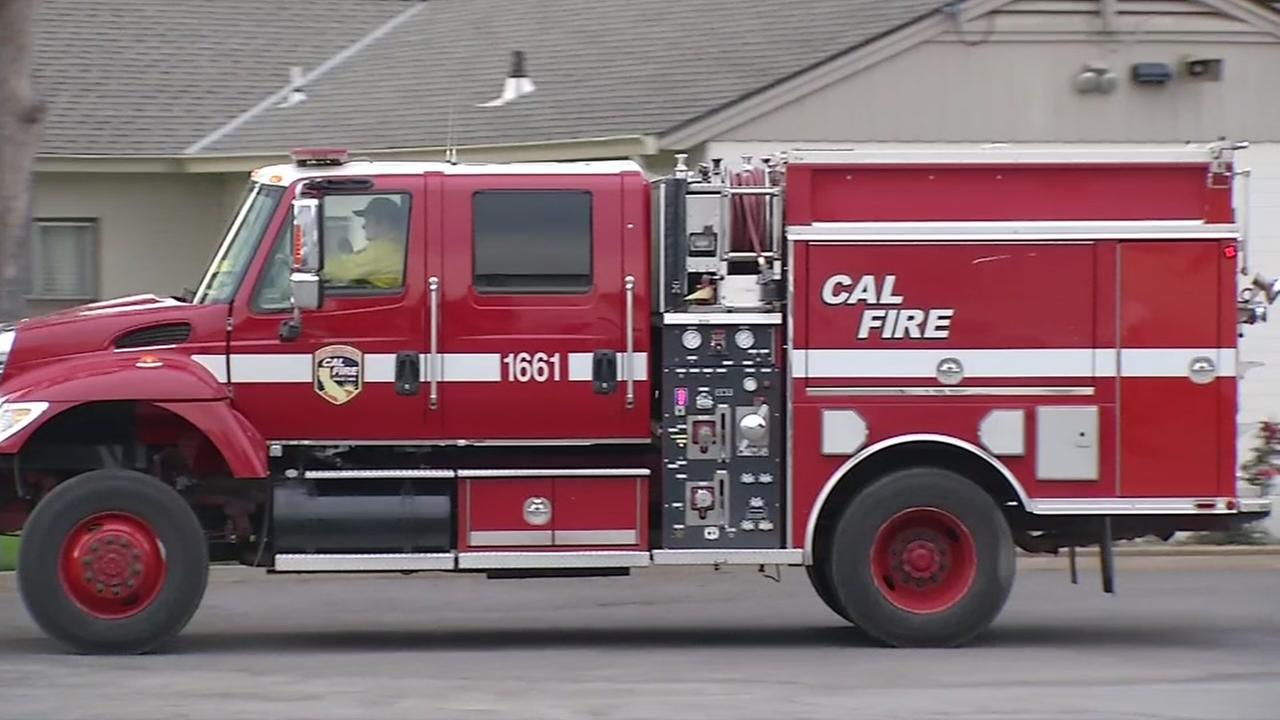 This is an undated image of a CalFire vehicle.