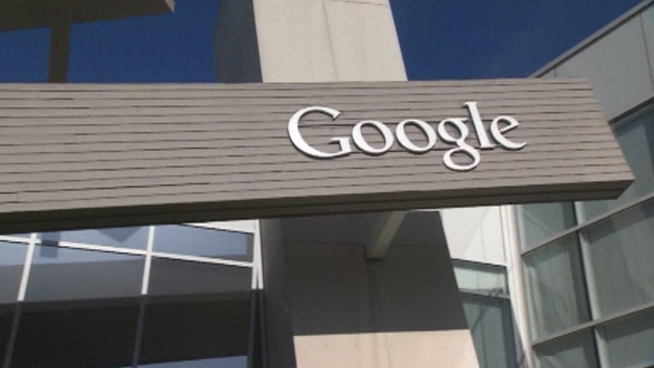 This is an undated image of a sign outside of Google in Mountain View, Calif.