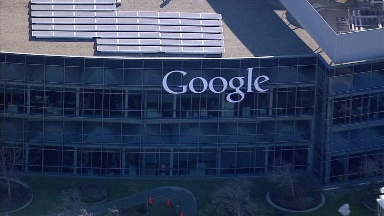 This is an undated image of a Google building in Mountain View, Calif.