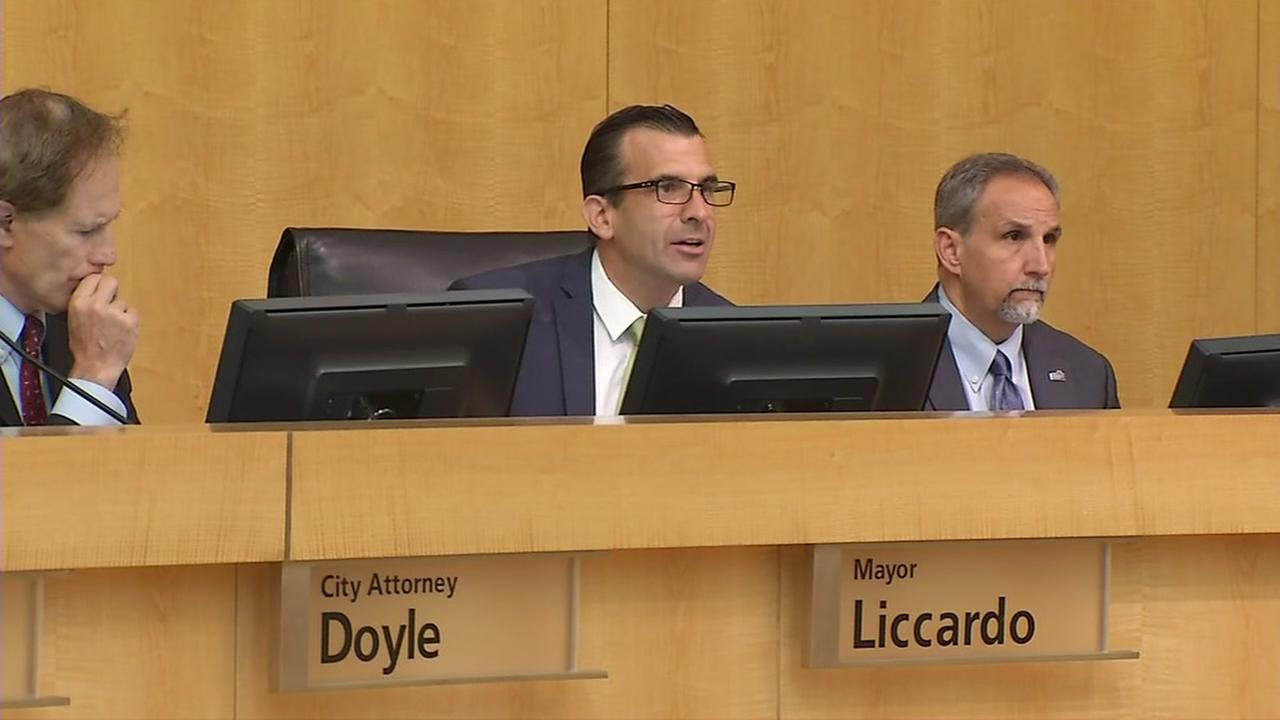 San Jose City Council officials are seen on Tuesday, August 8, 2017.