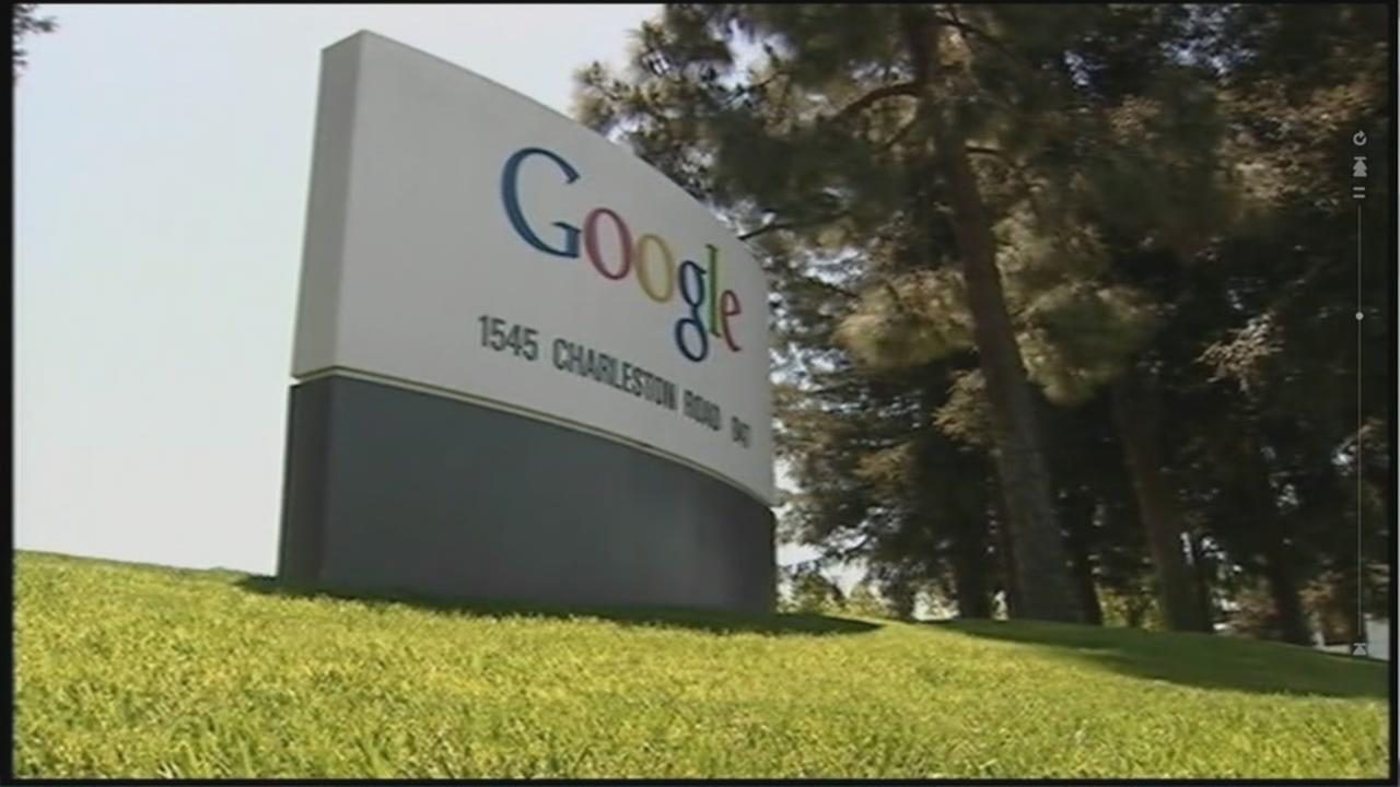 This is an undated image of a sign near Google in Mountain View, Calif.