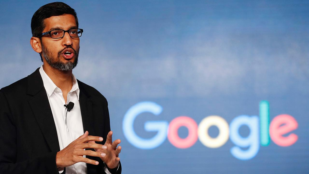 FILE - In this Wednesday, Jan. 4, 2017, file photo, Google CEO Sundar Pichai speaks during a news conference.