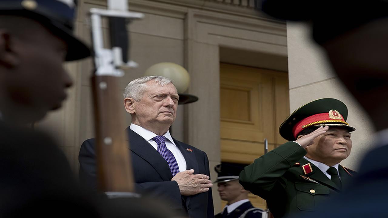 Defense Secretary James Mattis in Silicon Valley Thursday