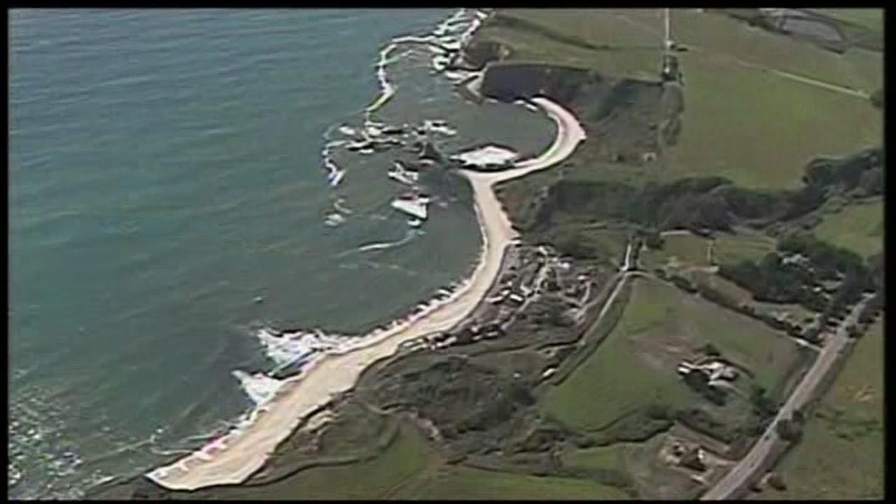 This undated image shows Martins Beach near Half Moon Bay, Calif.