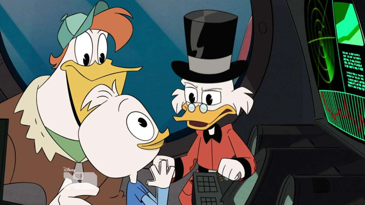 This undated image shows a scene from Disney XDs new reboot of the classic show DuckTales.
