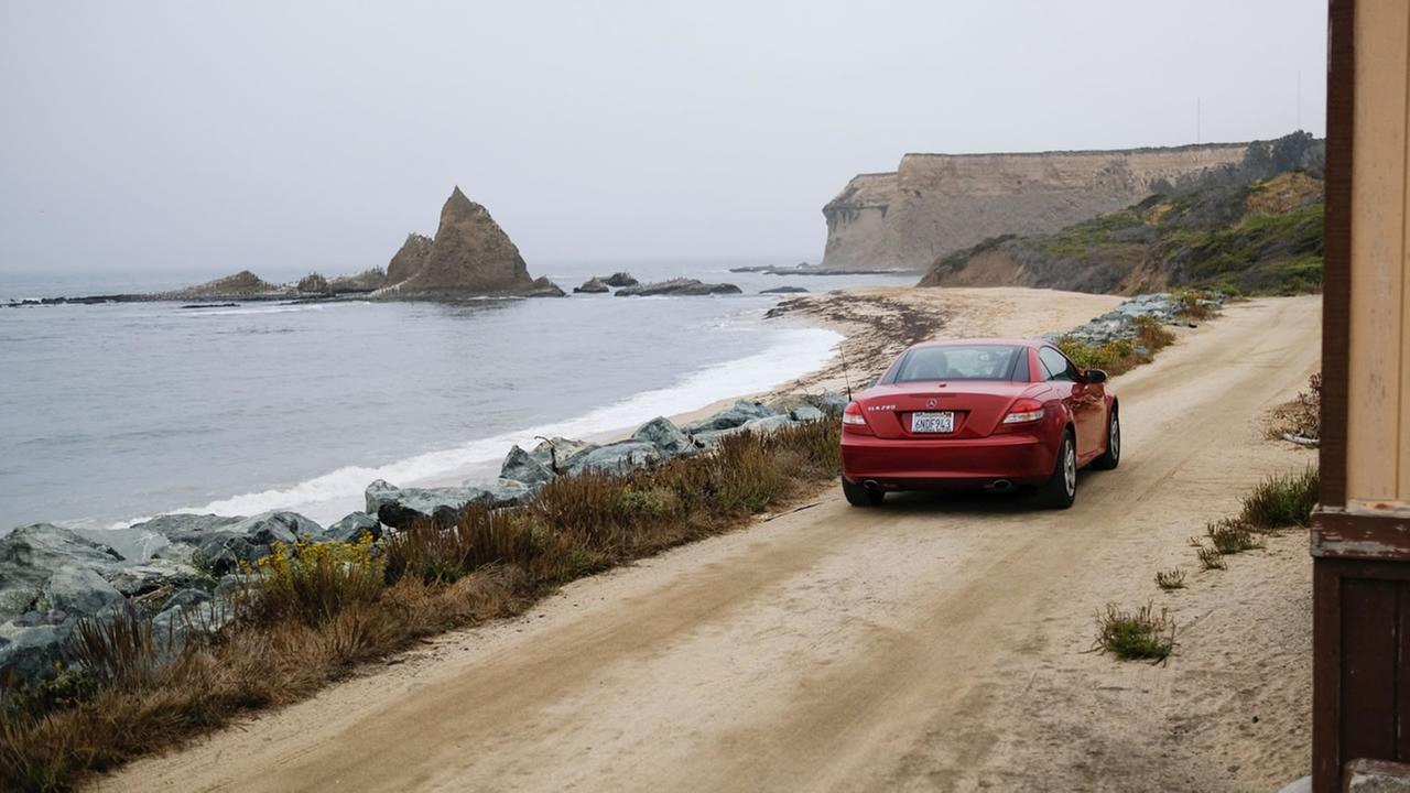 A car is seen near Martins Beach in San Mateo County, Calif.