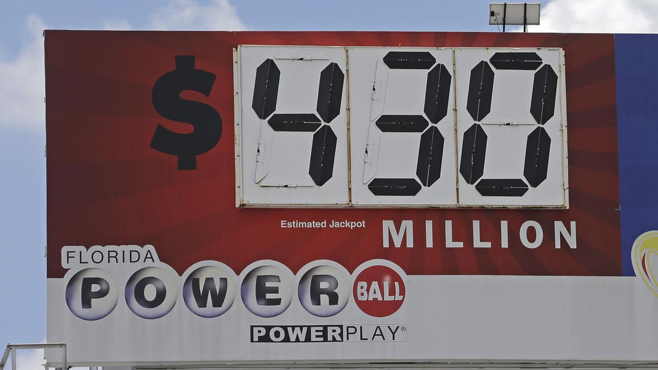 A billboard shows the Powerball prize, Tuesday, Aug. 15, 2017, in Miami.