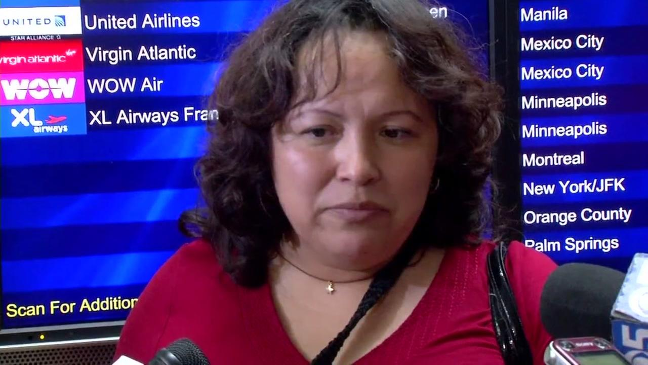 Maria Sanchez is interviewed before being deported from San Francisco to Mexico on Aug. 16, 2017.