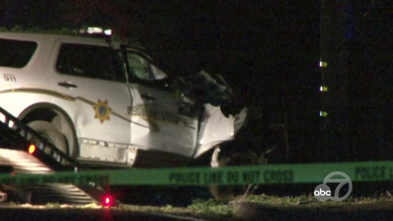Scene of Lake County deputy fatal crash, Wednesday, August 23, 2017.
