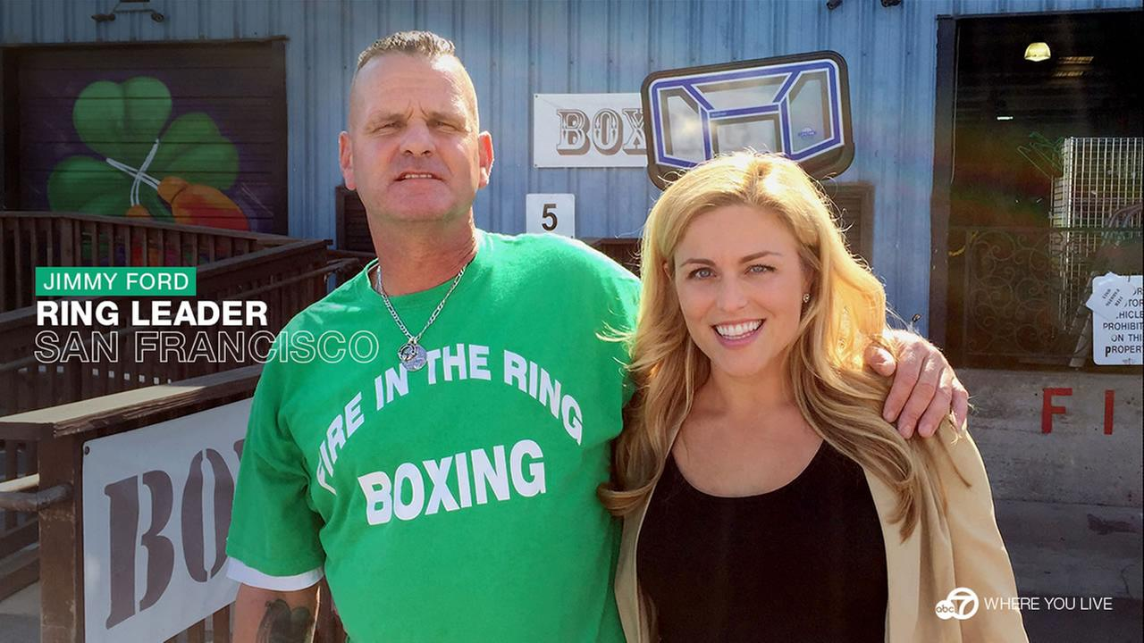 ABC7 Star Jimmy Ford is a retired boxer who started Fire in the Ring; a boxing gym in Brisbane, Calif. thats also a safe haven for at-risk youth.