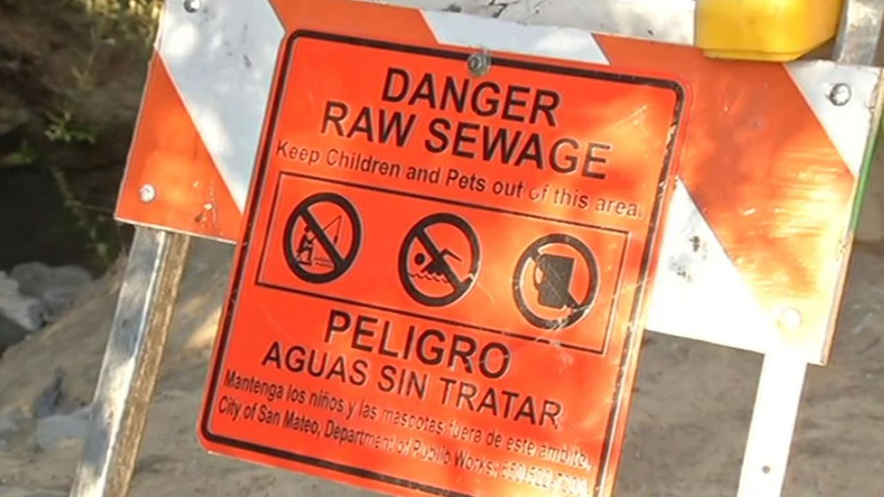 raw sewage sign