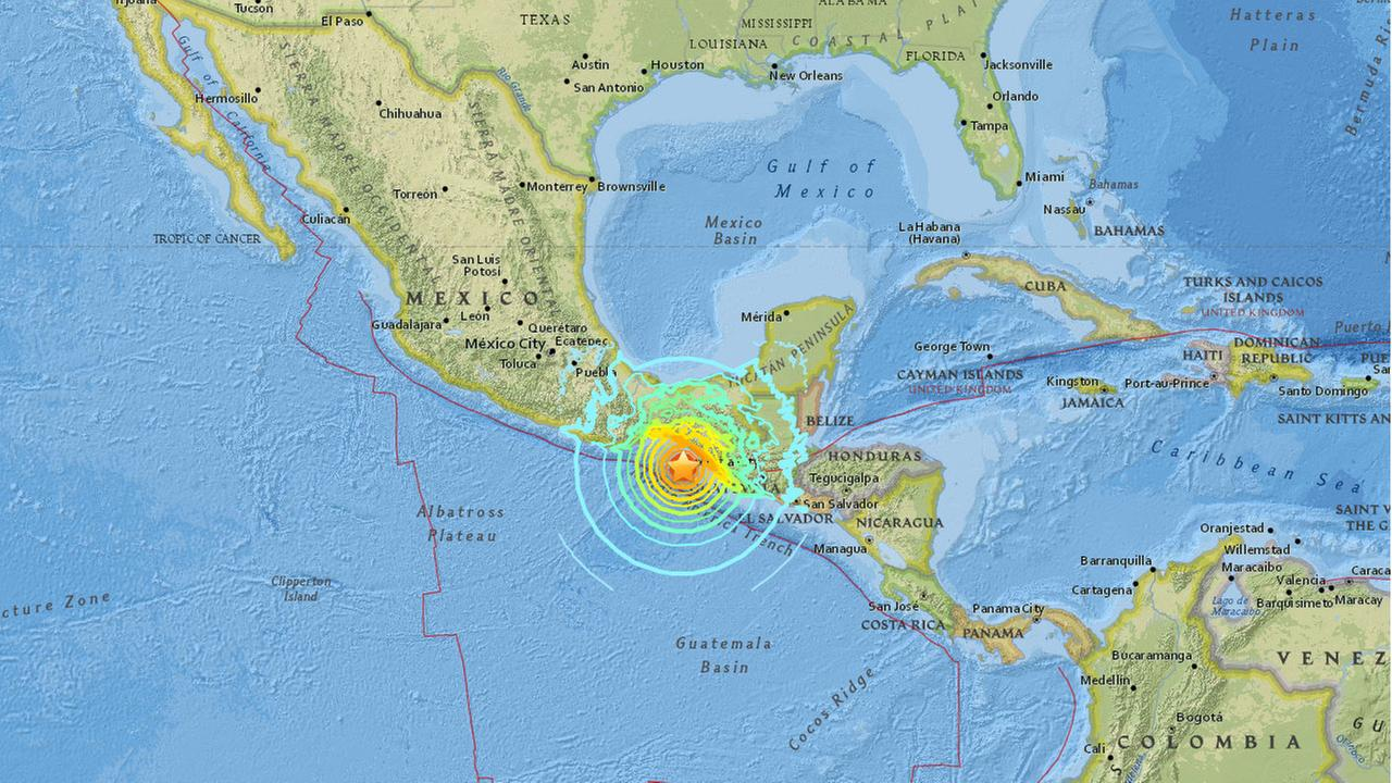 An earthquake with a preliminary magnitude of 8.0 struck off the coast of southern Mexico.