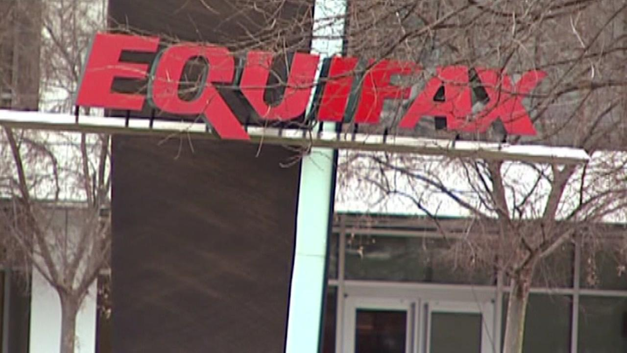 This undated image shows a sign for Equifax.