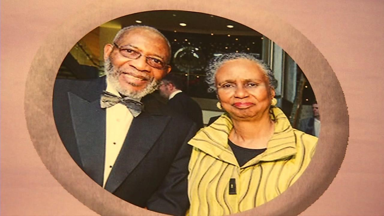 This is an undated image of Reverend Amos Brown and his wife.