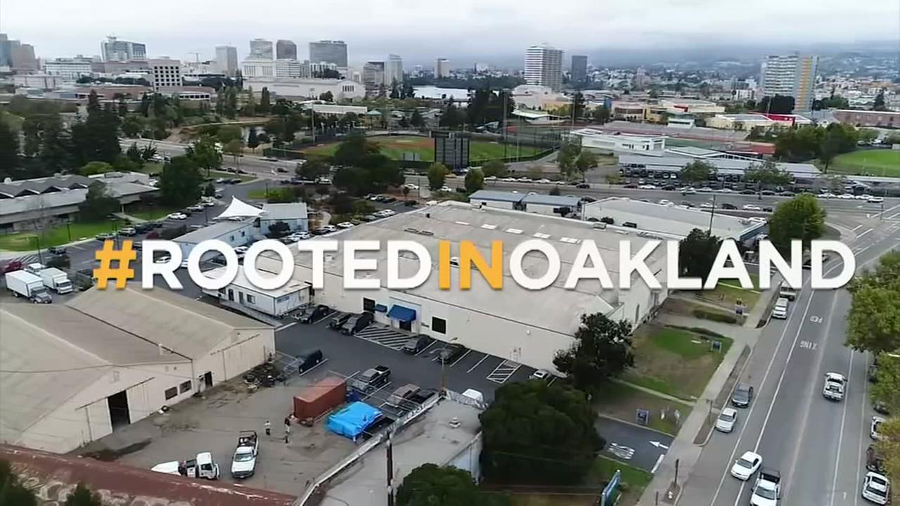 DroneView7 was over the proposed new stadium site for the Athletics in Oakland, Calif. on Wednesday, Sept. 14, 2017.
