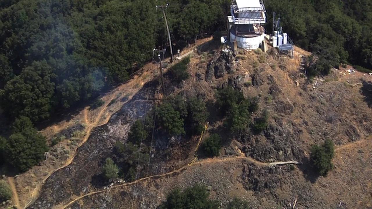 CAL FIRE puts out blaze on Mount Hamilton.