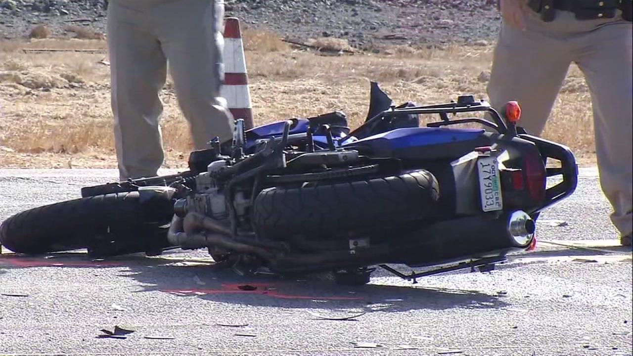 Fatal motorcycle crash in San Martin, California, Tuesday, September 19, 2017.