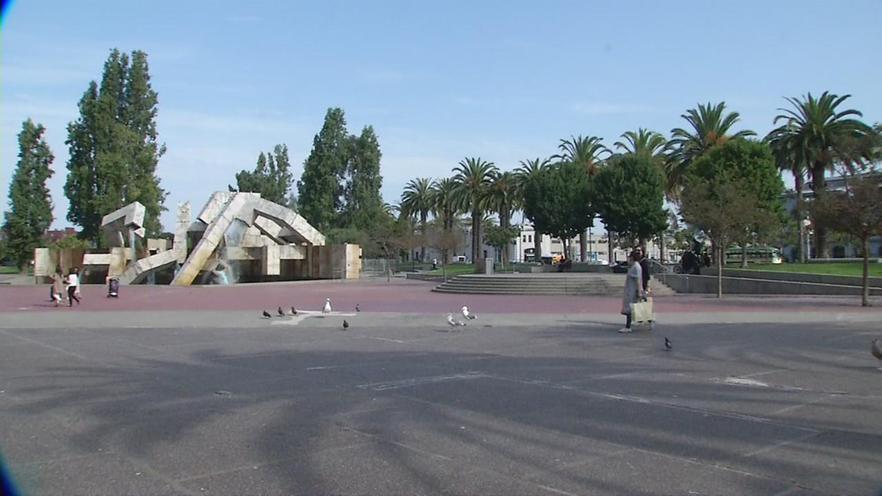 This is an undated image of Justin Herman Plaza in San Francisco.