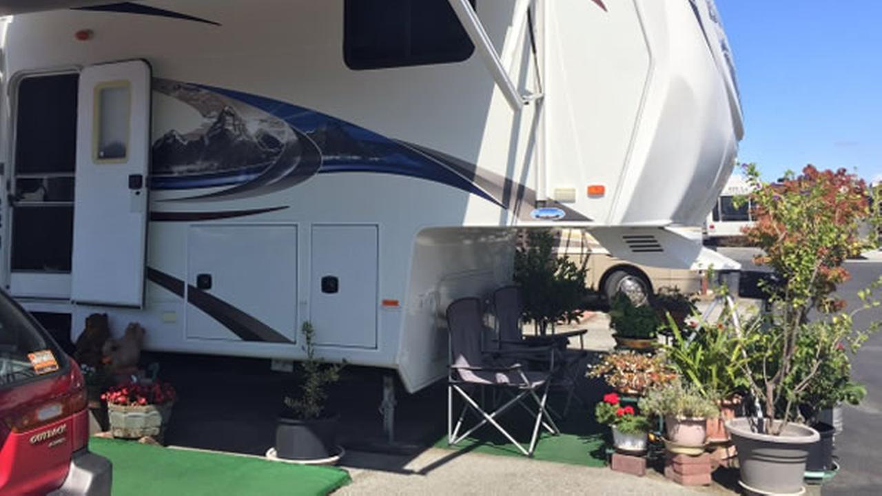 The Trailer Villa mobile home park is seen in Redwood City, Calif. on September 21, 2017.