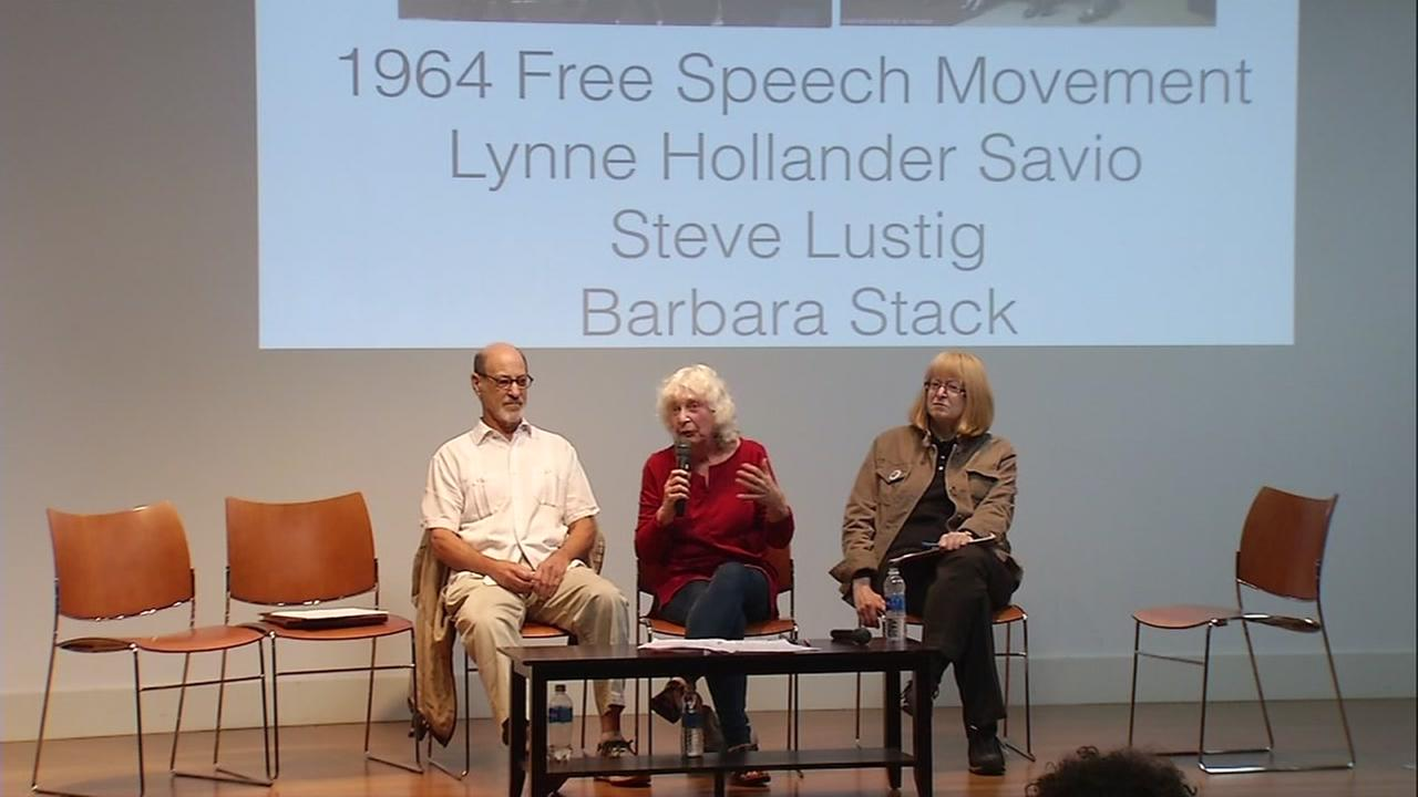 Berkeley speakers hold an event on free speech on Thursday, Oct. 5, 2017.