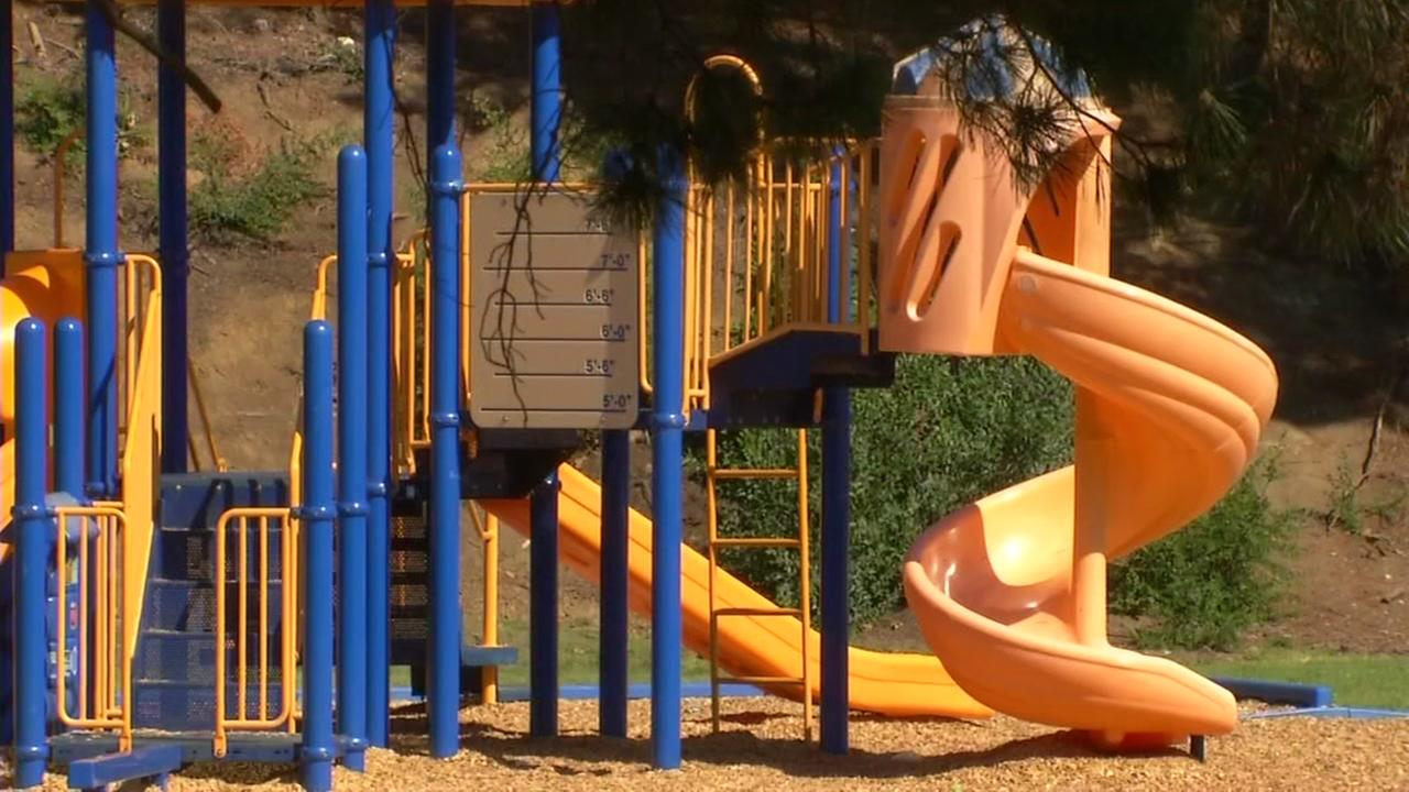 A playground near Loma Vista Elementary School appears in Vallejo, Calif. on Friday, Oct. 6, 2017.